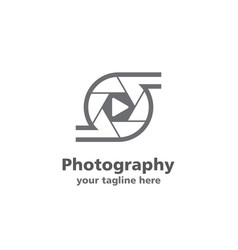 photo and videography logo vector image