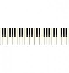 piano keyboard long vector image