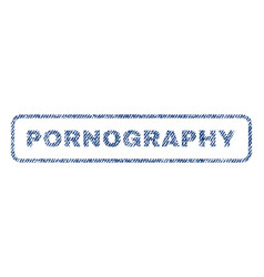 pornography textile stamp vector image