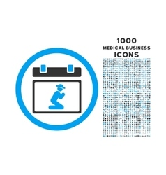 Pray Date Rounded Icon with 1000 Bonus Icons vector