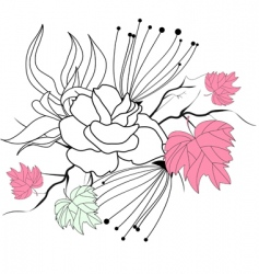 romantic decorative background vector image