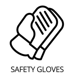 safety gloves icon outline style vector image