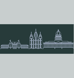 salt lake city single line skyline vector image