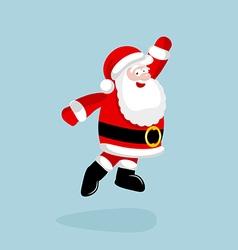 Santa Claus dancing and jumping vector
