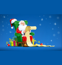 santa claus sit in armchair vector image