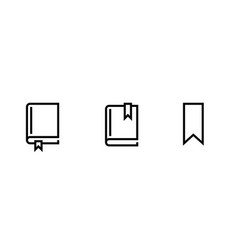 set books different size icons editable line vector image