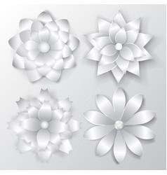 set paper flowers vector image