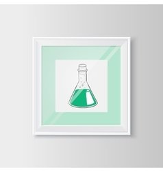 Test tube sketch in a frame vector image