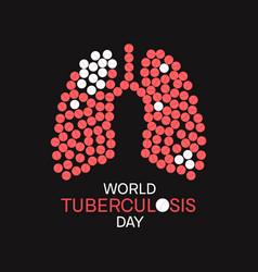 Tuberculosis awareness poster vector