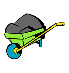 unicycle trolley icon icon cartoon vector image