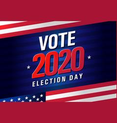 Vote 2020 presidential election usa vector