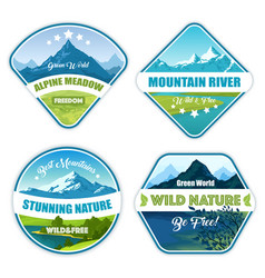 wild nature logotype collection vector image vector image
