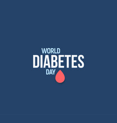world diabetes day mellitus vector image