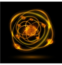 abstract atom vector image vector image