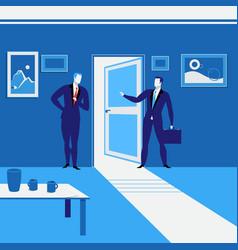 businessmen standing at vector image