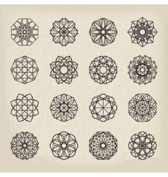 Geometric Vintage Ornaments Set vector image