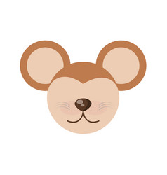 head cute mouse animal image vector image vector image