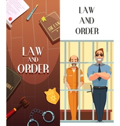 Law Order Justice 2 Cartoon Banners vector image vector image