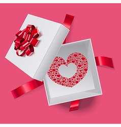Love box with heart inside vector image