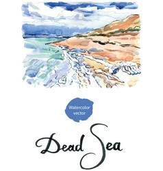 salt formations dead sea israel vector image vector image