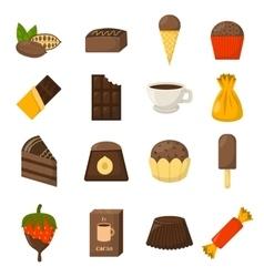 Chocolate symbols vector image