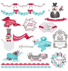 Christmas Snowman and New Year Theme vector image vector image