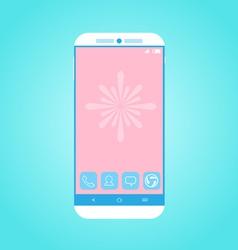 Flat Smartphone 2 vector image