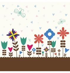 retro flower vector image vector image