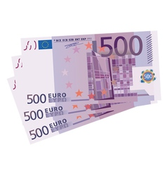 500 Euro bills vector image vector image