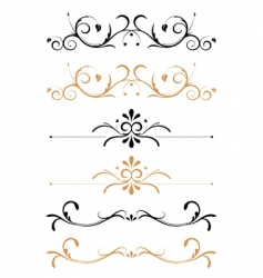Floral page decorations vector