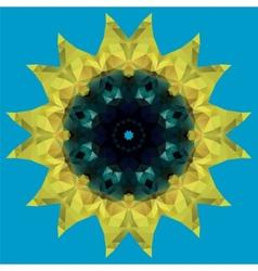 sunflower crystal vector image