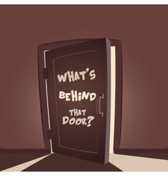 Whats behind that door vector image