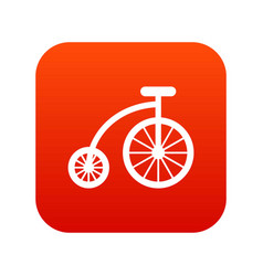 children bicycle icon digital red vector image