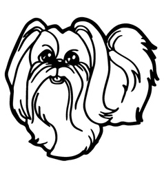 dog coloring book with white background vector image vector image