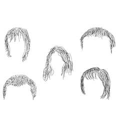 Hair wig vector image
