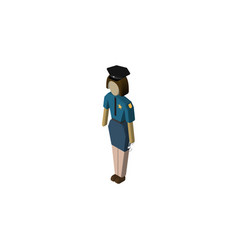 isolated officer isometric policewoman vector image