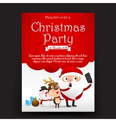 Merry Christmas invitation card tag banner vector image