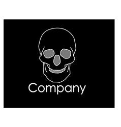 skull graphic logo vector image