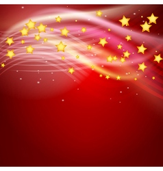stars flying on red vector image vector image