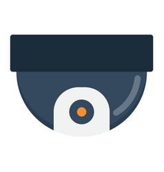 surveillance camera flat icon cctv and security vector image