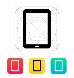 Tablet PC screen icon vector image