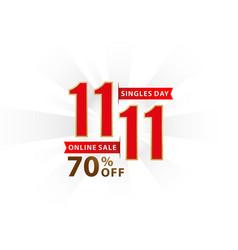 1111 sale 1111 online sale singles day vector image