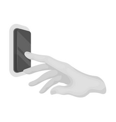 A hand that includes an electric switch push vector