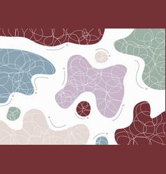 Abstract design doodle splash artwork vector