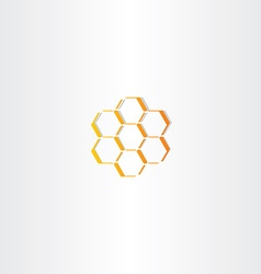 abstract honey comb icon vector image