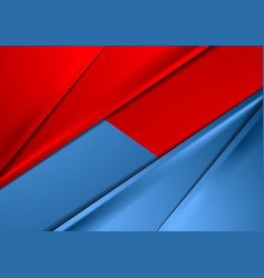 Abstract red and blue smooth contrast background vector