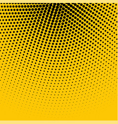 abstract yellow background with black halftone vector image