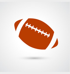 American football icon isolated on white vector