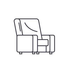 armchair line icon concept armchair linear vector image