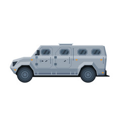 Armored vehicle banking currency and valuables vector